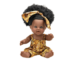 Ama (Saturday) Ashanti Doll - The Rooted Baby Co.