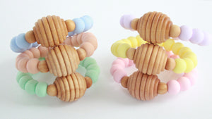 Spring Honeycomb Teether - Teether - The Rooted Baby Co.