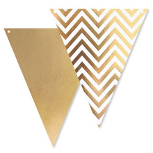 Load image into Gallery viewer, Gold Spots, Stripes & Chevron Bunting