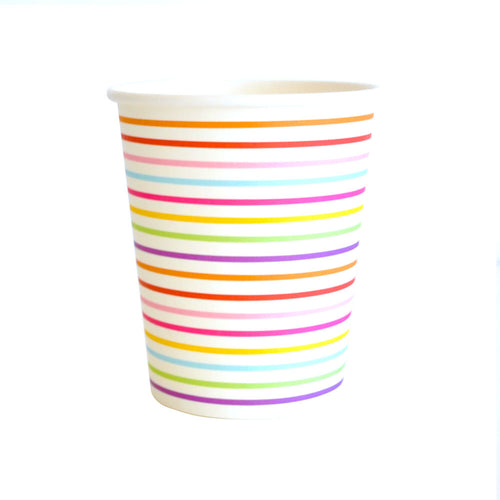 Rainbow Stripe Cup - Pack of 10