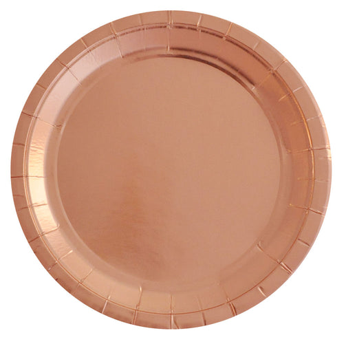Rose Gold Large Plate - Pack of 10