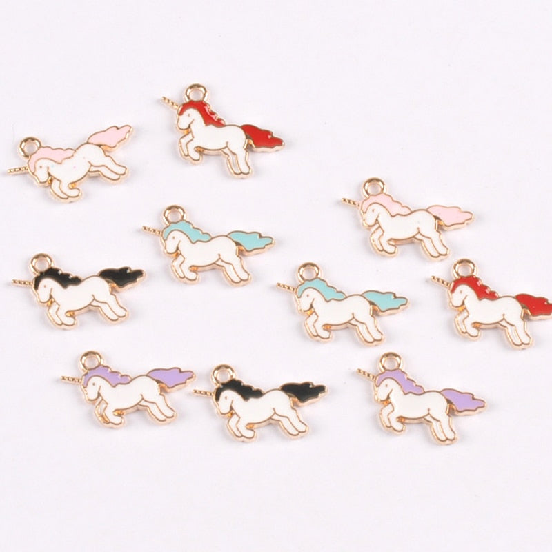 10pcs-Mix-colour-Drop-Oil-Enamel-Charms-Licorne-Pendant-for-Jewelry-Earrings-Making-20x12mm