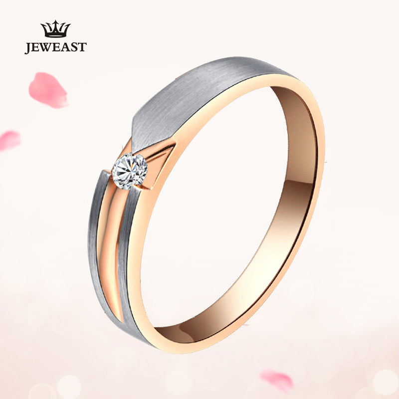 18K Gold Pure Gold Ring Real 18K Solid Gold Rings Good Beautiful Upscale Trendy Classic Party Fine Jewelry Hot Sell New 2020