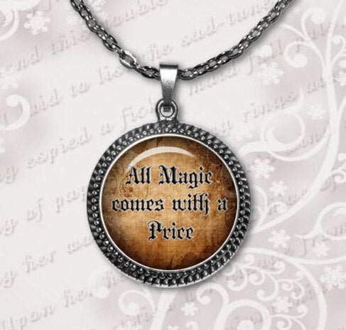2020 Limited Collier Once Upon A Time Jewelry All Magic Comes With Price Quote Necklaces Pendant Glass Dome Necklace HZ1
