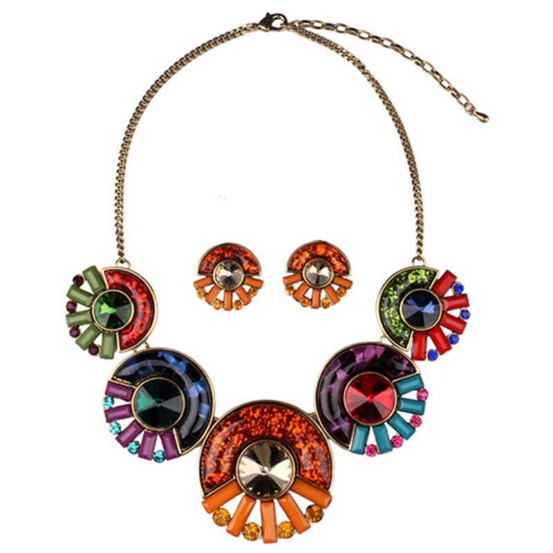 2015-New-Fashionable-Bohemian-Multicolor-Round-Big-Necklace-Charm-Pendant-Statement-Necklaces-Jewelry-Wholesale