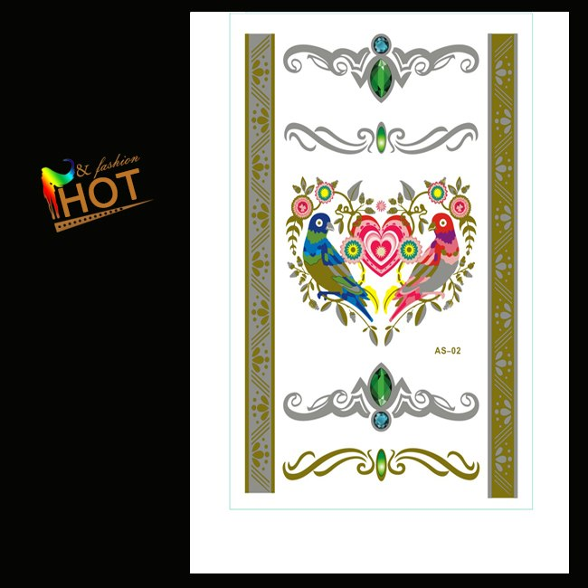 2015-NEW-Jewelry-necklace-Body-art-glitter-gold-tattoo-stickers-temporary-flash-tattoo-Disposable-indians-tattoo
