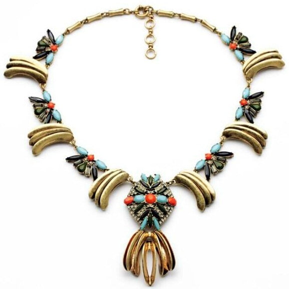 2014-Trendy-Vintage-Style-Punk-Necklace-Chunky-Pendant-Chain-Women-Personality-Fashion-Jewelry