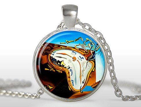 2020 Limited Rushed Zi Women Classic Maxi Necklaces Collares Collier Salvador Dali Necklace Pendant Glass Dome Jewelry HZ1