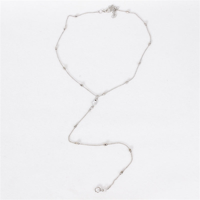 2017 New Fashion women vintage long necklace gold silver jewelry simple pendant necklaces colar Jewelry gifts