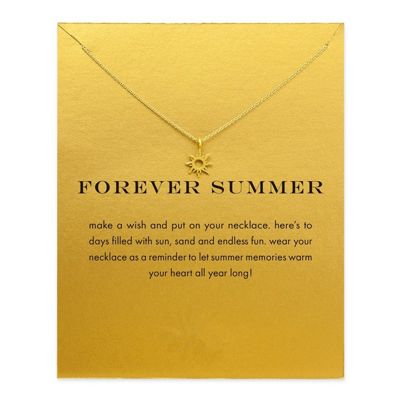 2017 New Gold Forever Summer Necklace Simple Cute Lovely Elegant Jewelry na