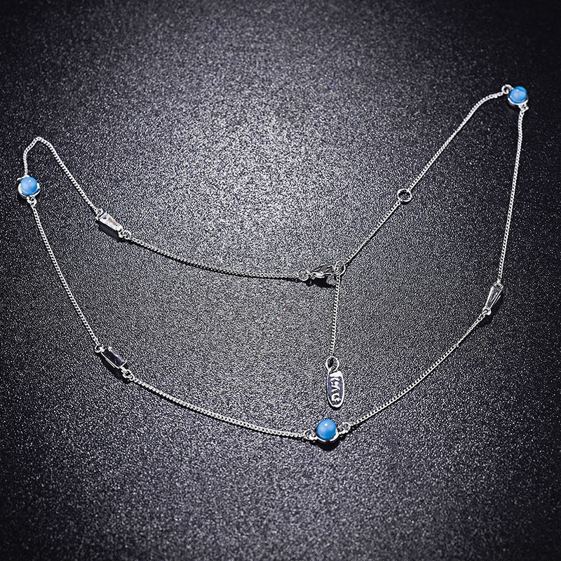 2020 Best Quality New simple turquoise necklace female Crystal from Swarovski For Party Fit Women and girls