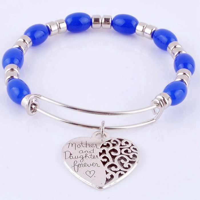 2018 Expandable adjustable wire wrap acrylic beads bangle bracelet hand life tree charm cuff bracelet for women Jewelry XY160317