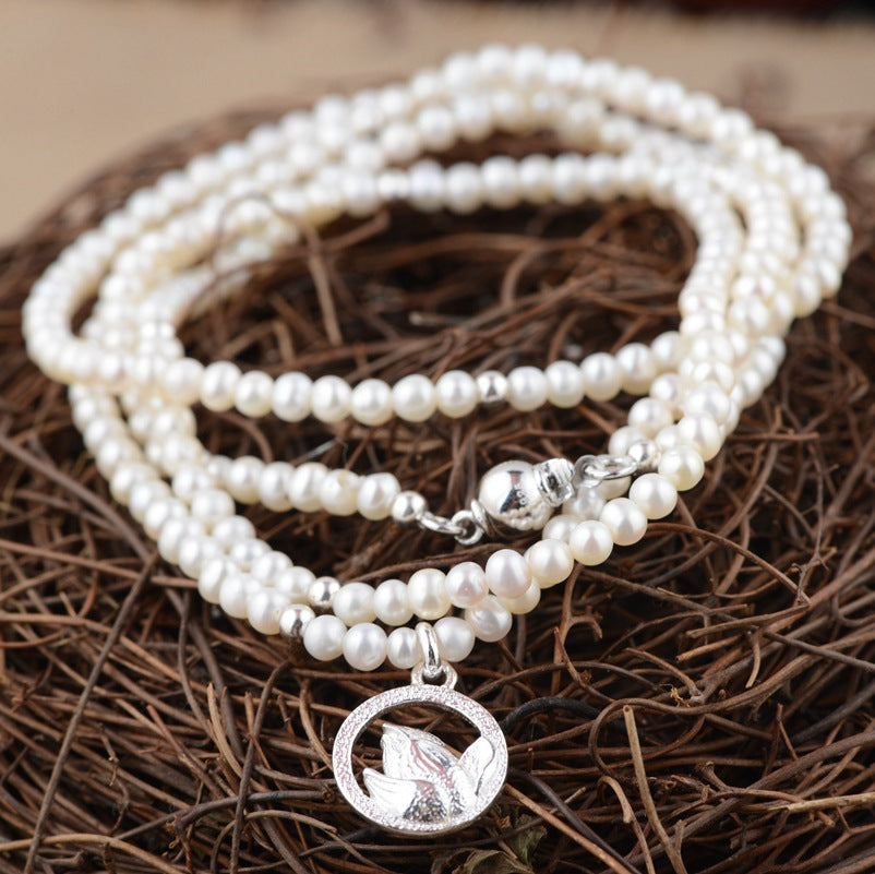 2018-Limited-2018-New-Kehribar-Elegance-Jewelry-Line-Sterling-Necklace-S925-Pure-Pearl-Chain-Thai-Wholesale