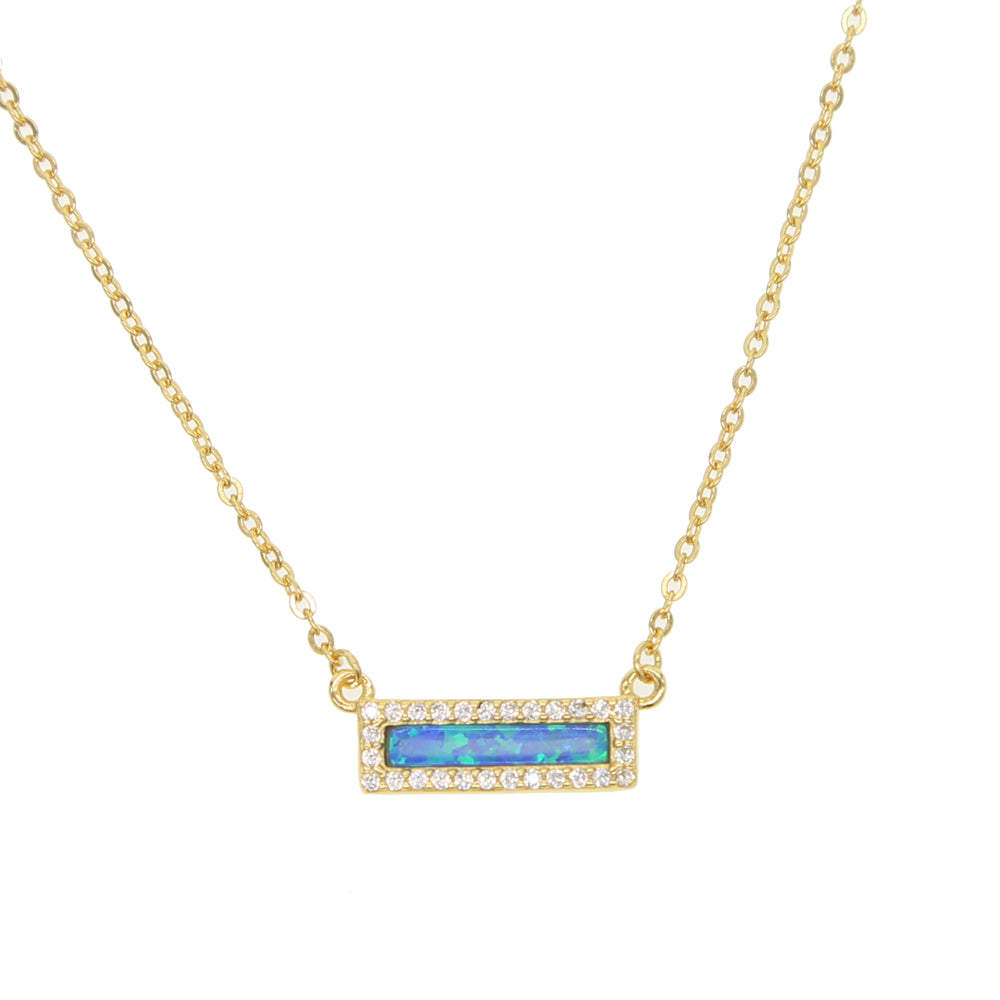 2018-Limited-Collares-Collier-New-100-925-Sterling-Fashion-Brand-blue-opal-Charm-gold-color-For