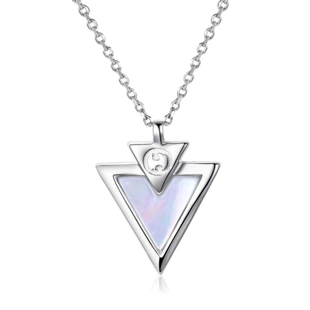 2018-Limited-Special-Offer-Silver-Triangle-Simple-Necklace-Jewelry-For-Women