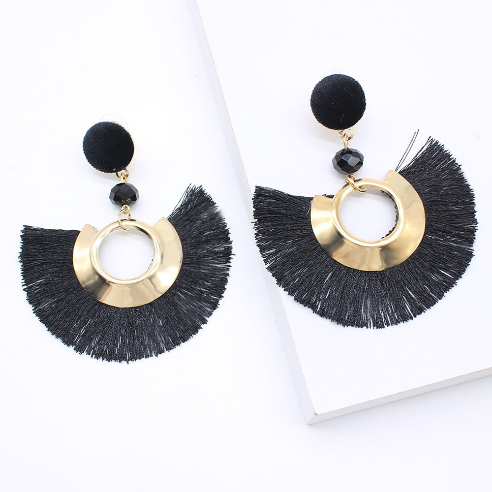 2020 NEW Fashion Tassel Earrings For Women Bohemian Female Dangle Earring Handmade Brincos Statement drop Jewelry Wholesale