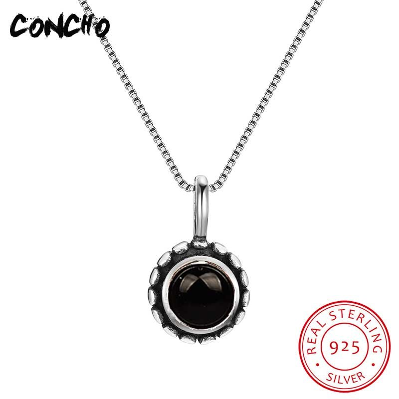 2020 New Arrival Hot Sale Pendant Necklaces Trendy Collier Sautoir Long Jewelry 925 Sterling Round Necklace For Women