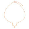 2020 New Fashion Deer Horn Antler Necklace Jewelry Simple Elegant Horn Necklace Antler Tiny Cute Pendant Necklace For Women