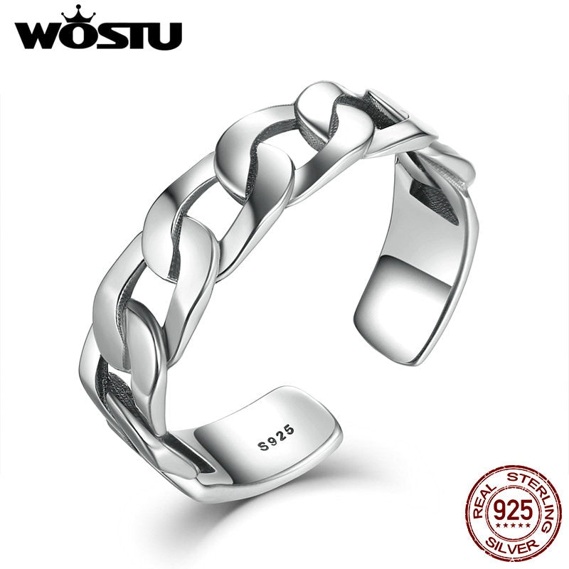 2020 New Fashion Real 925 Sterling Silver Punk Voluble Open Finger Rings For Women Men Ring Fine Jewelry Gift CSR036