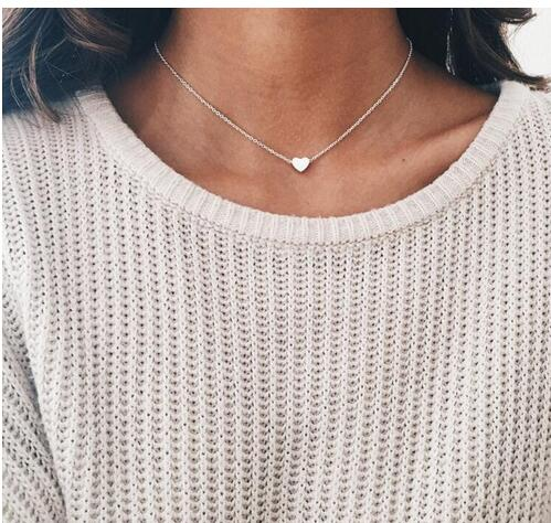 2020 New Women chocker gold Silver Chain star heart choker Necklace Jewelry collana Kolye Bijoux Collares Mujer Collier Femme