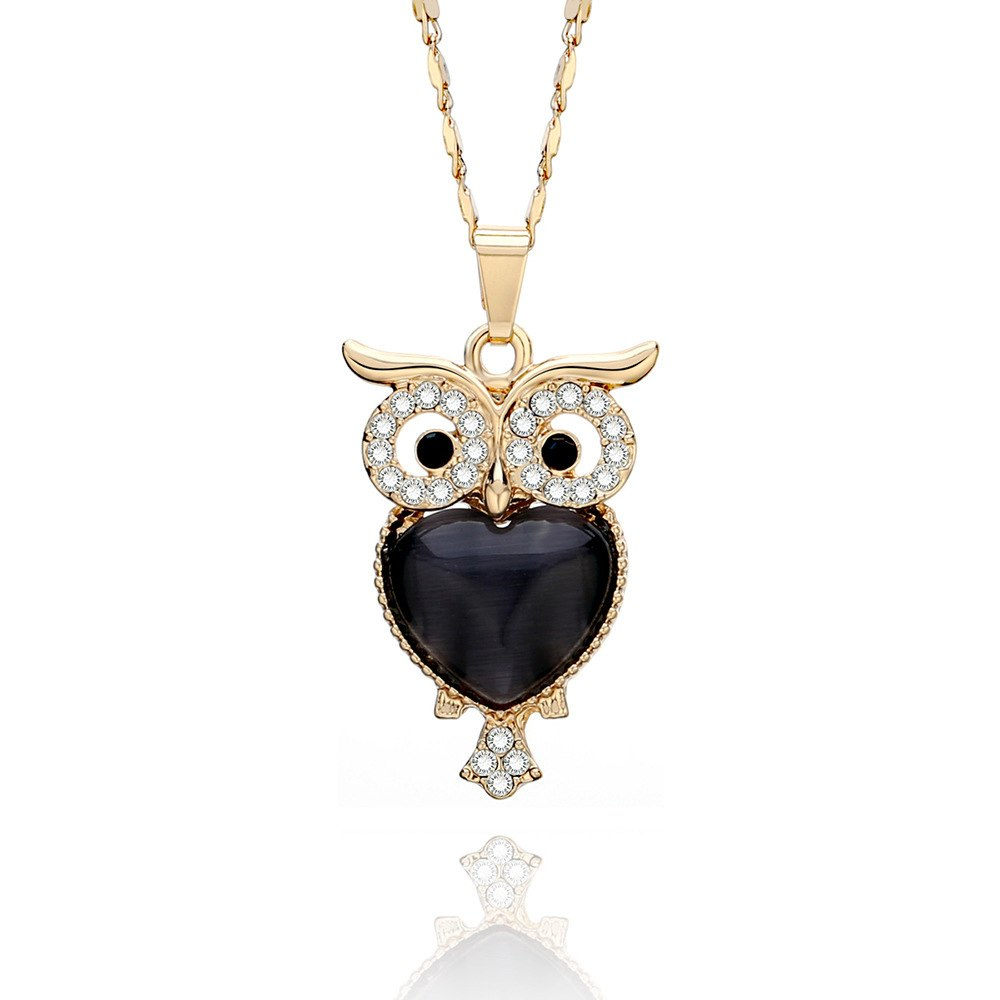 2020 New Zi Alloy Cute Little Owl Necklaces AAA CZ Pendant Necklaces Trendy Women Jewelry Accessories