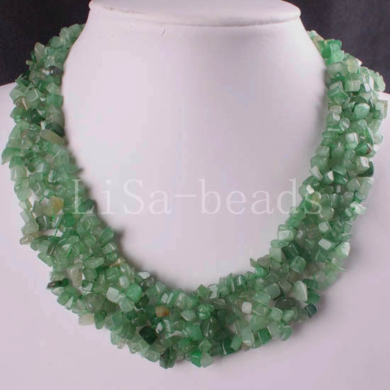 4X8MM C Beads Nylon Line Weave Coral Green Aventurin Crystal Howlite Crystal Opal Shell Unakite Epidote Necklace 18 1Pcs