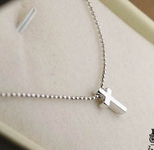 50% Off Free Shipping Elegant Simple Stainless Steel Cross Pendant Necklace For Women Statement Necklace Fine Jewelry
