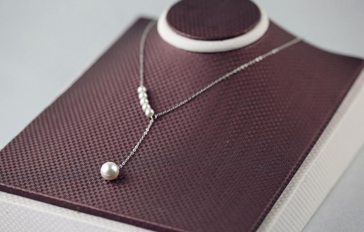 925 Sterling Silver Imitation pearls Necklace for women simple fashion short Necklaces & Pendants Sterling Silver Jewelry