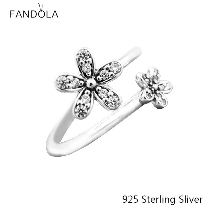 925 Sterling Silver Ring Dazzling For Women Original Fashion Charms European Style Jewelry CKK