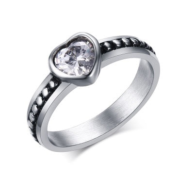 A wholesale Sale Fashion jewelry jewelry Pave Setting charm color Compatible With 925 silver Retro woman Ring Ring
