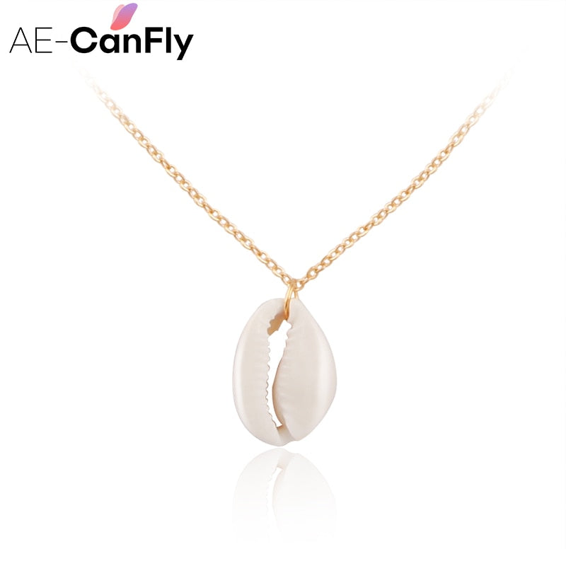 Conch Havaiian Shell Pendants Necklace Beach Jewelry Gold Silver Chain Chokers NX293