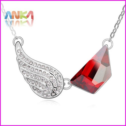 Collares Mujer Colar Collier Limited Jewelry Valentine's D Wing Necklace Main Stone Crystals from Austria #102120