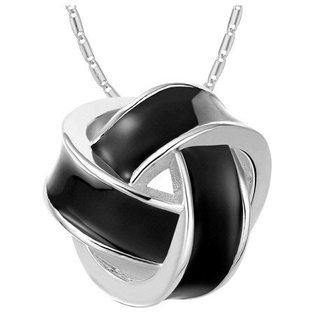 Lady 2020 Mujer Silver Necklace Pendant With Long Chain CZ Zirconia Fashion Weave Black/White Enamel For Women Party N863