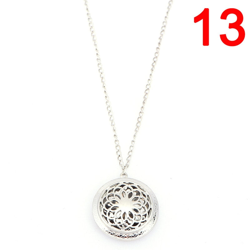 Aromather Essential Oil Surgical Stainless Steel Necklace Pendant Perfume Diffuser Locket New Arrival more than 16 styles