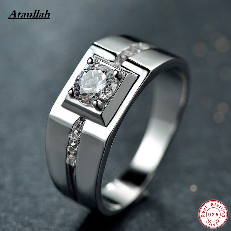 New 925 Sterling Silver Wedding Rings For Women And Men Fashion SONA Engagement Rings RWD806