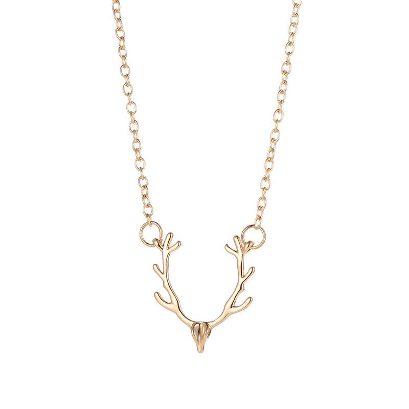 Christmas Gift Jewelry Choker metal alloy Gold Silver Color Simple Chain Coconut Palm Tree Pendant Necklace