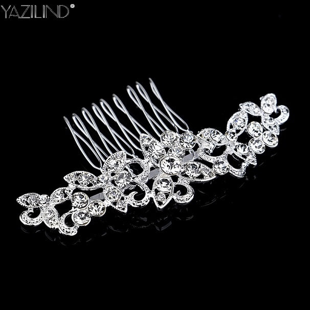 Beautiful Woman Hairwear Wedding Jewelry Brautschmuck Bride Haircomb Handmade Nice Accessories Fashion Crystal Leaves Combs