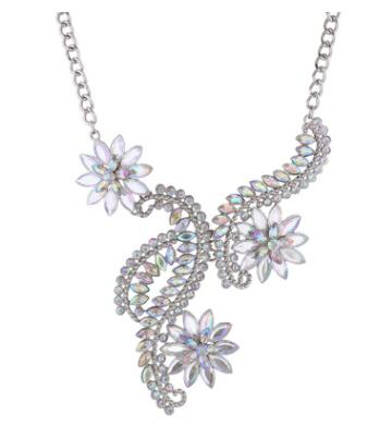 Big Maxi Statement Necklace for Women 2020 Rhinestone Necklace Flowers Collar Chokers Necklace luxury Bijoux jewellry