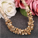 Bohemia Ethnic Necklace & Pendant Natural Stone Beads Jewelry Vintage Statement Long Necklace Women Handmade Summer Jewelry