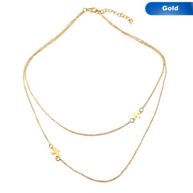 Chain Necklace Bird Pigeon Necklace Simple Cute Animal Small Choker New Fashion Gold/Silver Color For Women