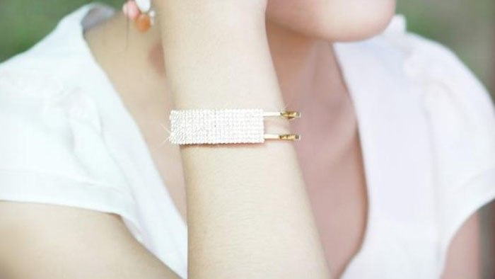 Cheap Bangle Bracelet Fashion Lady Elegant Bangle Wristband Bracelet Crystal Cuff Bling Gift Magnetic Bracelet Gold Silver #501