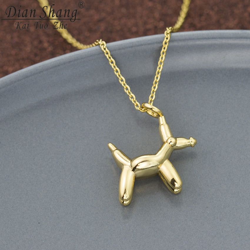 New Arrival Cute Little Dog Necklace For Women Men Bohemian Children Jewelry Balloon Dog Collier Pendentif