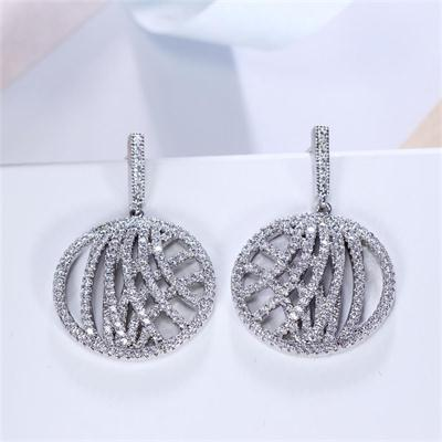 Dangling fashion drop earrings for women online shopping Sporty brincos with top grade crystal fashion jewelry for statement