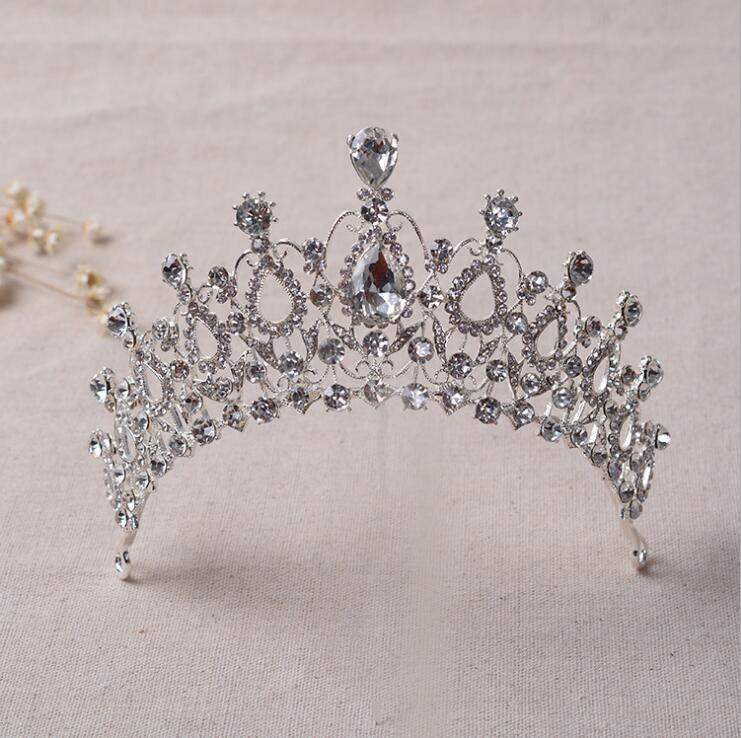 Elegant Crystal Bride Hair Accessories Wedding Tiaras and Crown for sale Rhinestone Pageant Crowns Head Jewelry Hair Ornament