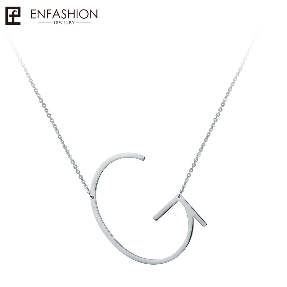 Letter Necklaces Pendants Alfabet Initial Necklace Stainless Steel Choker Necklace Women Jewelry Kolye Collier collare