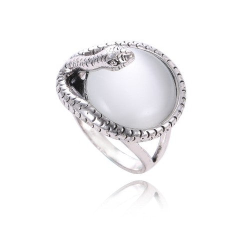 European 925 silver Opal ring RING Female Crystal from Austrian Simple Retro punk ring Anti-allergic Christmas gift