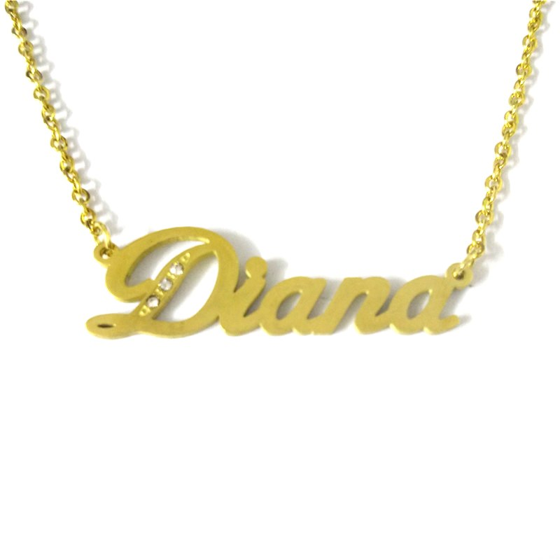 2020 Hot Sale Diana Custom Name Necklaces & Pendants Women Personalized Name Pendants & Necklace For Girl's Gift