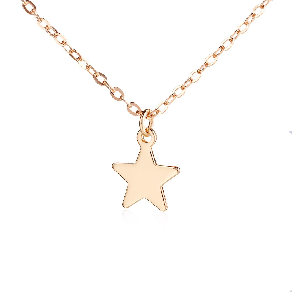 Fashion Creative Gold Silver Star Pentagram Pendant Necklace Female Jewelry Alloy Long Sweater Chain Necklaces Pendant For Women