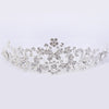 Fashion European Styles Silver Hair Jewelry Pearl Crystal Tiaras And Crowns For Bride Wedding Women Handmade Hair Accessories