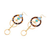 Fashion Indian Jewelry Loop Pendant Long Earrings Online Shopping Leopard Print Women Hanging Earrings